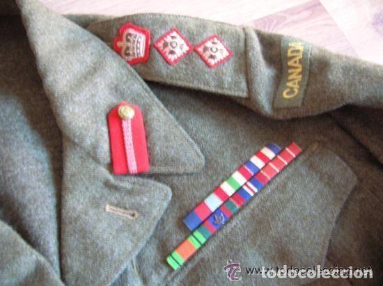 Militaria: BATTLEDRESS / GUERRERA BRITANICA DE CORONEL DE TIERRA CANADIENSE. AÑO 1947. - Foto 3 - 116283563