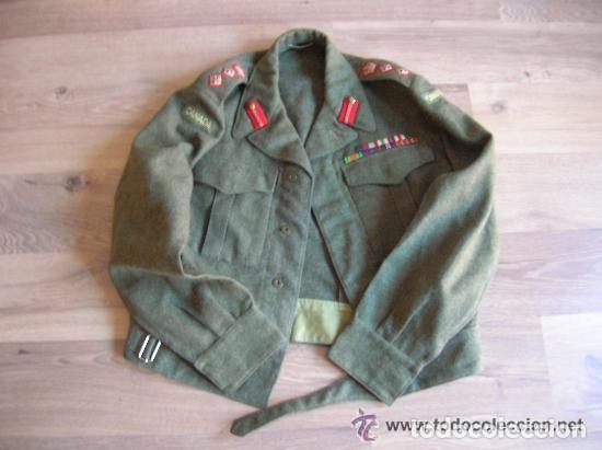 Militaria: BATTLEDRESS / GUERRERA BRITANICA DE CORONEL DE TIERRA CANADIENSE. AÑO 1947. - Foto 5 - 116283563