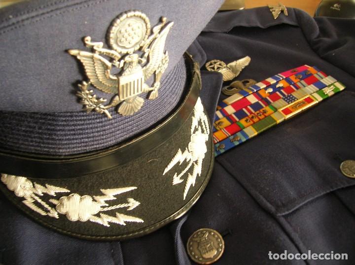 UNIFORME COMPLETO DE CORONEL MUY CONDECORADO USAF. EPOCA DE LA GUERRA DE VIETNAM. 100% ORIGINAL USA. (Militar - Uniformes Extranjeros )