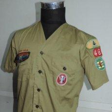 Militaria: CAMISA DE BOY SCOUT. USA. OFICIAL. SCOUT B.S.A. CON PARCHES DE EAGLE SCOUT, SENIOR PATROL LEADER, BL. Lote 120388975