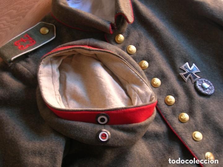 Militaria: EXCELENTE Y RARA RÉPLICA DE UNIFORME ALEMAN DE LA PRIMERA GUERRA MUNDIAL. - Foto 2 - 122149767