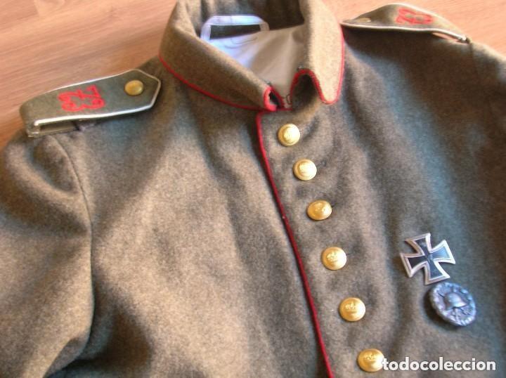 Militaria: EXCELENTE Y RARA RÉPLICA DE UNIFORME ALEMAN DE LA PRIMERA GUERRA MUNDIAL. - Foto 3 - 122149767