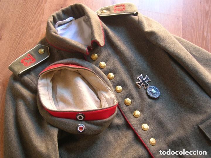 Militaria: EXCELENTE Y RARA RÉPLICA DE UNIFORME ALEMAN DE LA PRIMERA GUERRA MUNDIAL. - Foto 4 - 122149767