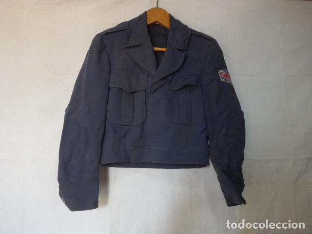 ANTIGUA GUERRERA CORTA BATTLE DRESS INGLESA, RAF, AVIACION, GRAN BRETAÑA, ORIGINAL. (Militar - Uniformes Internacionales)