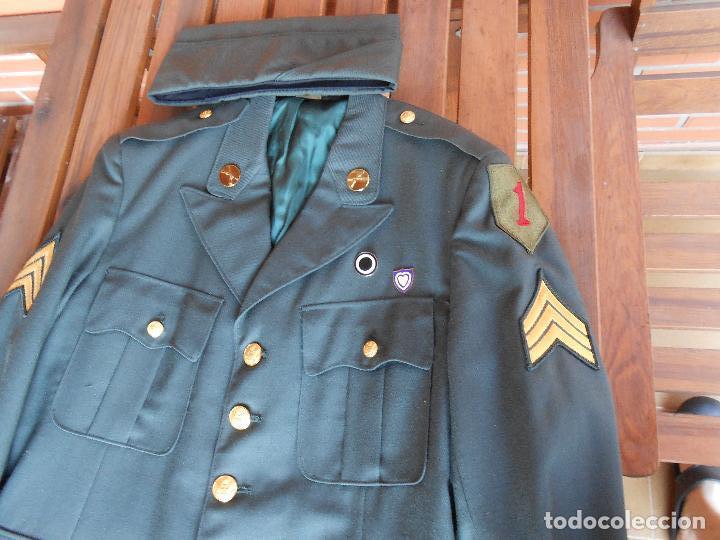 Militaria: Uniforme U.S de gala ejército americano sargento uno rojo época Vietnam - Foto 2 - 137783858