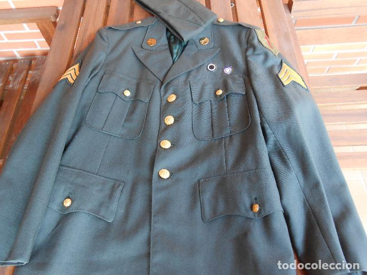 Militaria: Uniforme U.S de gala ejército americano sargento uno rojo época Vietnam - Foto 3 - 137783858