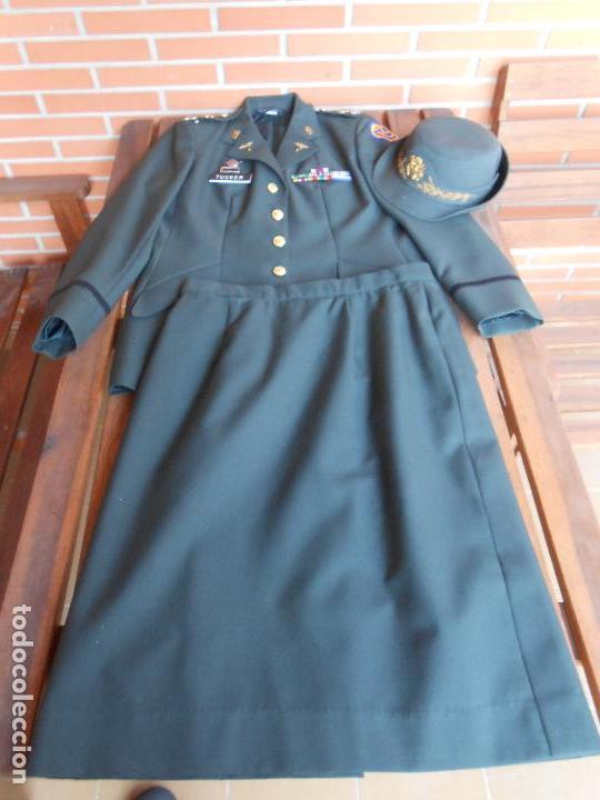 Militaria: Uniforme de mujer para gala, teniente coronel enfermera época Vietnam. - Foto 3 - 125164555