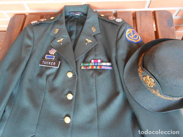 Militaria: Uniforme de mujer para gala, teniente coronel enfermera época Vietnam. - Foto 4 - 125164555