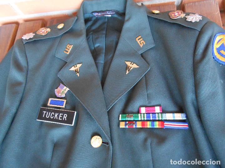 Militaria: Uniforme de mujer para gala, teniente coronel enfermera época Vietnam. - Foto 13 - 125164555