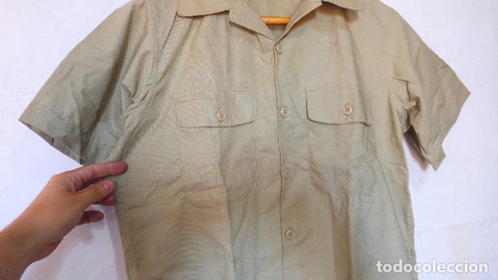 Militaria: Antigua camisa de manga corta americana, estados unidos, original. Guerra vietnam. DSA 68 - Foto 2 - 127461439