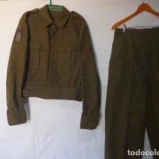 Militaria: ANTIGUO UNIFORME HOLANDES KORPS MARINERS, GUERRERA BATTLE DRESS + PANTALON. ORIGINAL. HOLANDA. . Lote 129467875
