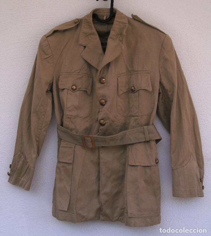 GUERRERA DE VERANO GRIEGA, AÑOS 40-50, ALGODÓN, ESTILO BRITÁNICO TROPICAL M1937.DE OFICIAL. (Militar - Uniformes Extranjeros )