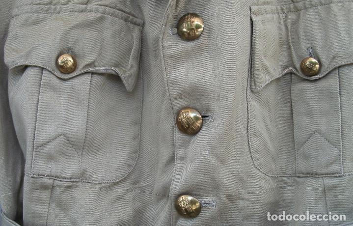 Militaria: GUERRERA DE VERANO GRIEGA, AÑOS 40-50, ALGODÓN, ESTILO BRITÁNICO TROPICAL M1937.DE OFICIAL. - Foto 2 - 131072988