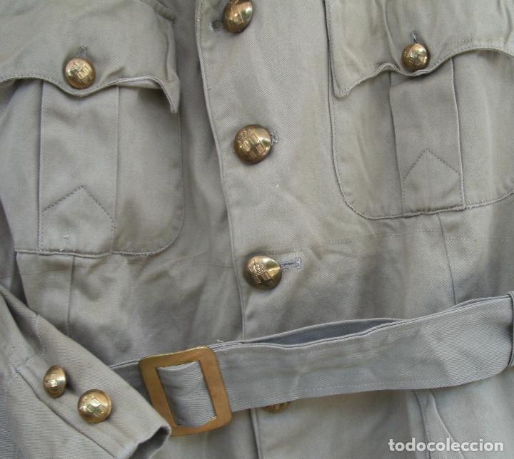 Militaria: GUERRERA DE VERANO GRIEGA, AÑOS 40-50, ALGODÓN, ESTILO BRITÁNICO TROPICAL M1937.DE OFICIAL. - Foto 4 - 131072988