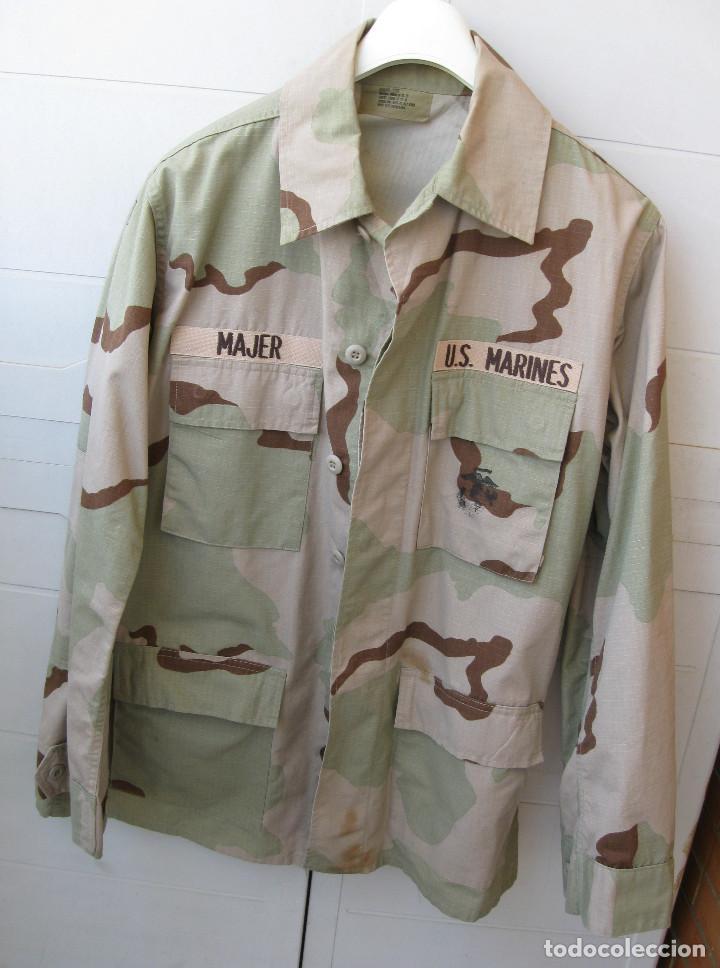 CHAQUETA/GUERRERA Y GORRA U.S. MARINES .. (Militar - Uniformes Extranjeros )