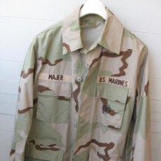 Militaria: CHAQUETA/GUERRERA Y GORRA U.S. MARINES ... Lote 131360790