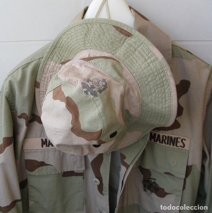 Militaria: CHAQUETA/GUERRERA y GORRA U.S. MARINES .. - Foto 5 - 131360790