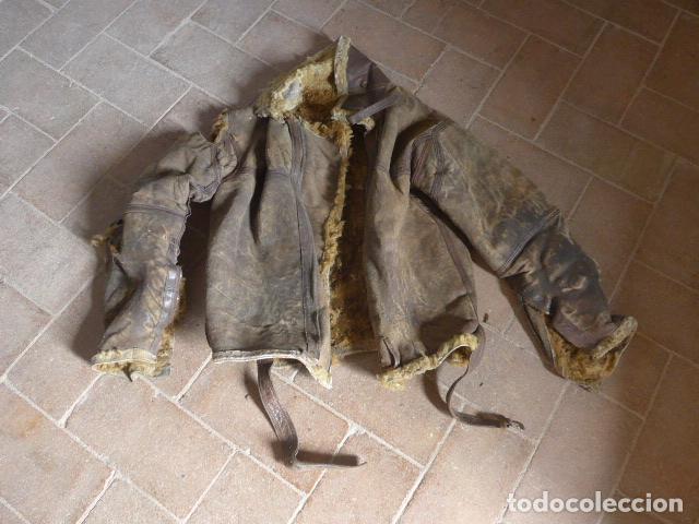 Militaria: Antiguo pantalon y cazadora vuelo de piloto aviador de la RAF inglesa de II guerra mundial, original - Foto 2 - 132013430