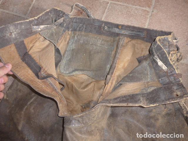 Militaria: Antiguo pantalon y cazadora vuelo de piloto aviador de la RAF inglesa de II guerra mundial, original - Foto 10 - 132013430