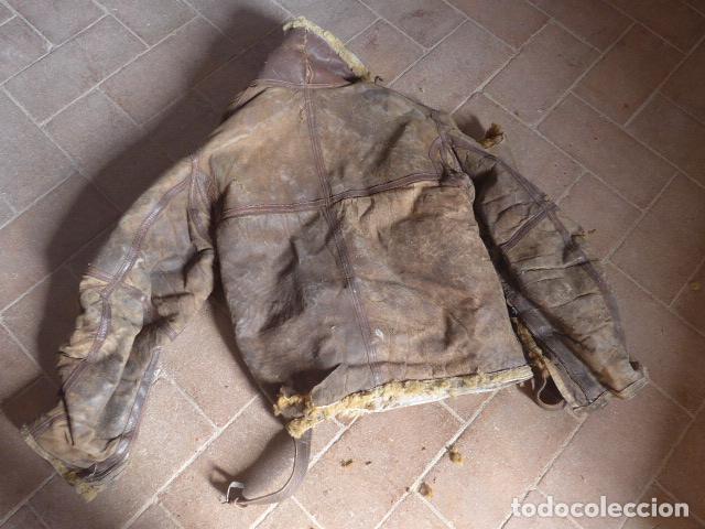 Militaria: Antiguo pantalon y cazadora vuelo de piloto aviador de la RAF inglesa de II guerra mundial, original - Foto 27 - 132013430