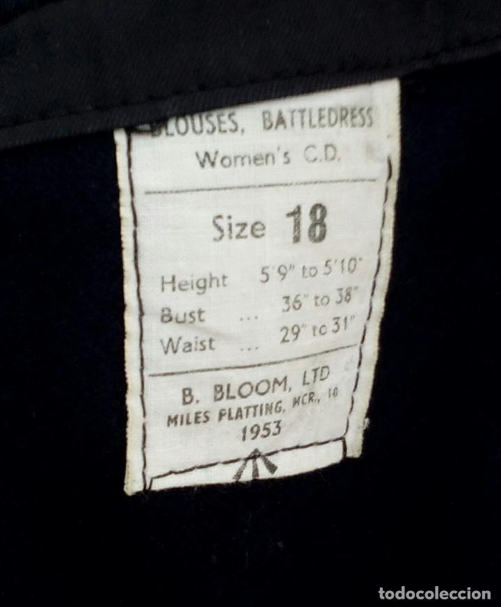 Militaria: Battledress women's CD, size 18. 1953. Lana azul marino. Cazadora británica - Foto 3 - 132480170