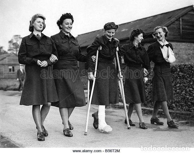 Militaria: Battledress women's CD, size 18. 1953. Lana azul marino. Cazadora británica - Foto 6 - 132480170