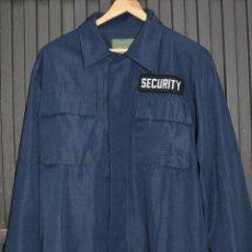 Militaria: CAMISA TALLA M AZUL MARINO SECURITY SEGURIDAD POLICIAL MILSIM MILITAR AIRSOFT TEJIDO TIPO RIPSTOP. Lote 134937034