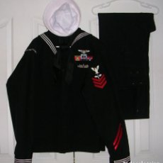 Militaria: EXCEPCIONAL UNIFORME COMPLETO DE MARINERO USA. 100% ORIGINAL. USS GEORGE WASHINGTON.. Lote 139132166