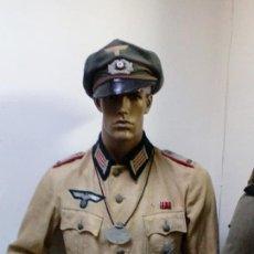 Militaria: JACKET O GUERRERA ALEMANA TROPICAL MODELO M36 EN LINO ARTILLERIA TOTALMENTE ORIGINAL PIEZON ¡¡¡. Lote 96545563