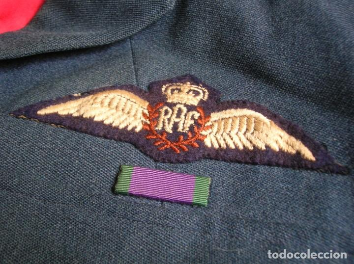 Militaria: GUERRERA BRITANICA O BATTLEDRESS DE OFICIAL PILOTO LA ROYAL AIR FORCE. RAF. - Foto 2 - 139665618