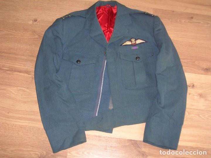 Militaria: GUERRERA BRITANICA O BATTLEDRESS DE OFICIAL PILOTO LA ROYAL AIR FORCE. RAF. - Foto 4 - 139665618
