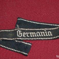Militaria: WAFFEN-SS ÄRMELBAND FÜR MANNSCHAFTEN IM SS-REGIMENT 2 GERMANIA. Lote 144053782