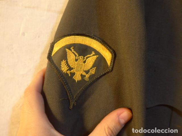Militaria: Antigua guerrera americana de oficial, original, con sus parches. Estados Unidos. guerra vietnam. - Foto 8 - 147653202