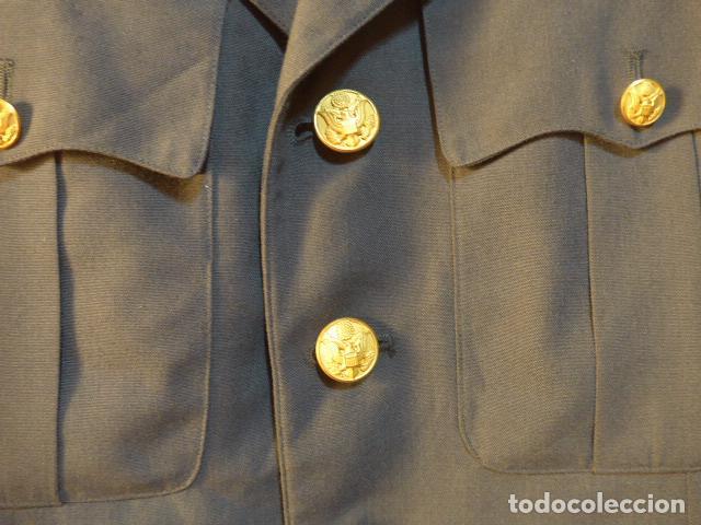 Militaria: Antigua guerrera americana de oficial, original, con sus parches. Estados Unidos. guerra vietnam. - Foto 10 - 147653202