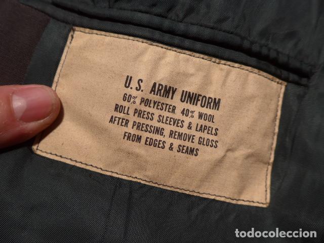 Militaria: Antigua guerrera americana de oficial, original, con sus parches. Estados Unidos. guerra vietnam. - Foto 15 - 147653202