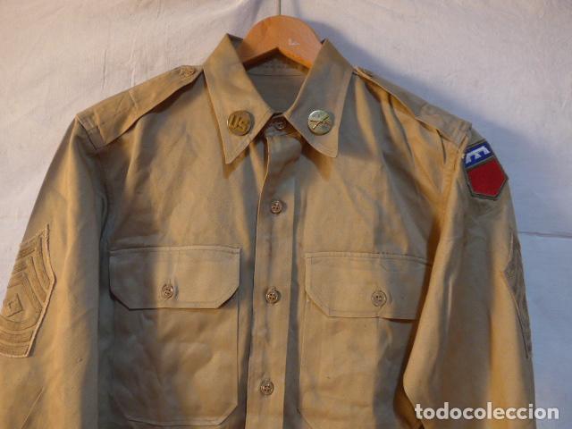Militaria: Antigua guerrera americana de 1965, original, con sus parches. Estados Unidos. guerra vietnam ? - Foto 2 - 147654206