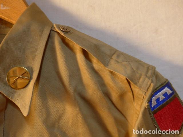 Militaria: Antigua guerrera americana de 1965, original, con sus parches. Estados Unidos. guerra vietnam ? - Foto 5 - 147654206