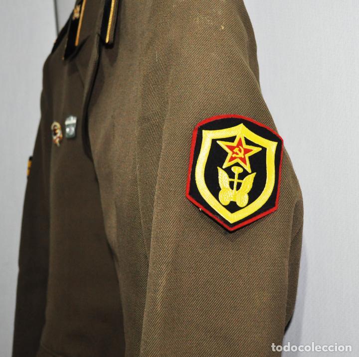Militaria: Chaqueta militar sovietica 4 .Soldado raso con insignias 1974.Tropas del transporte .URSS - Foto 3 - 151956494