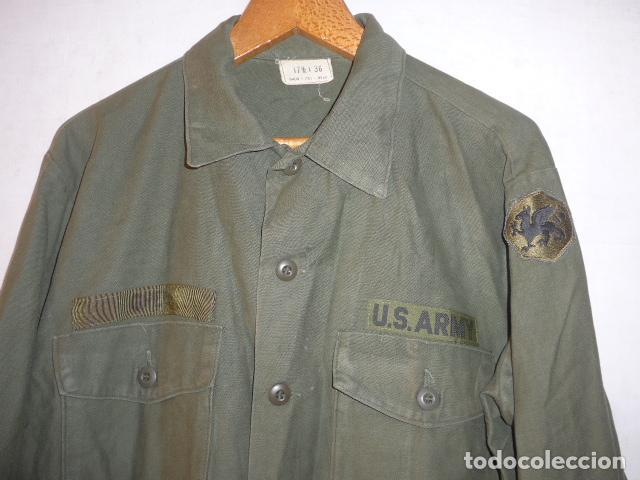 Militaria: Antigua guerrera americana original, US army, OG-107. Guerra de vietnam ? Talla grande. - Foto 2 - 152352606