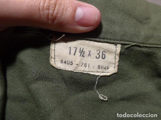 Militaria: Antigua guerrera americana original, US army, OG-107. Guerra de vietnam ? Talla grande. - Foto 11 - 152352606