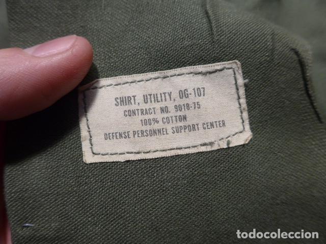 Militaria: Antigua guerrera americana original, US army, OG-107. Guerra de vietnam ? Talla grande. - Foto 12 - 152352606
