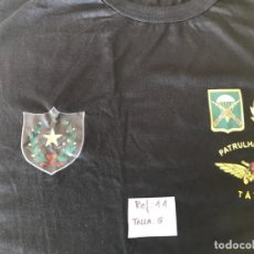 Militaria: CAMISETA MANGA CORTA TALLA G.NEGRA.. Lote 152926770