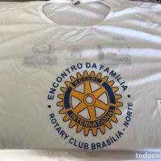 Militaria: CAMISETA MANGA CORTA, TALLA GG, BLANCA, ROTARY CLUB BRASILIA.. Lote 152939614