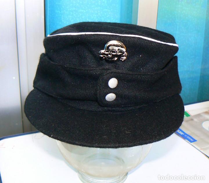 Militaria: GORRA M43.Oficiales alemanes .NAZI. PANZER. NEGRO.NUEVA. Tercer Reich - Foto 2 - 157324782