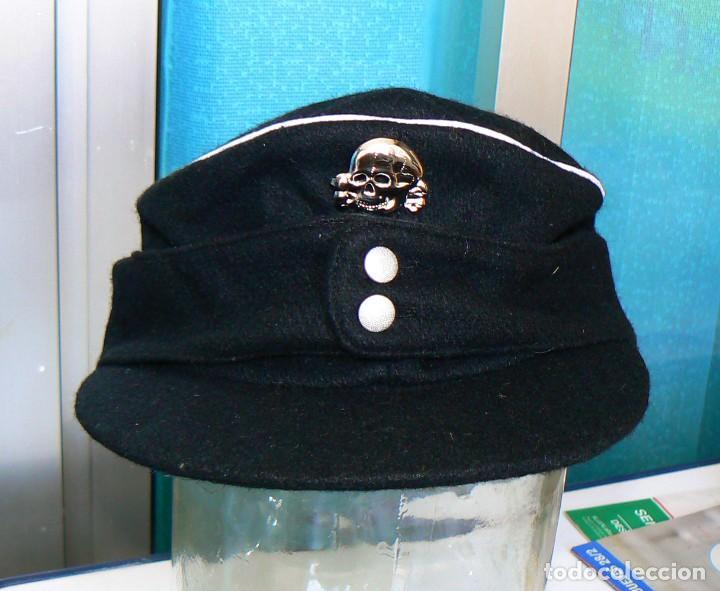 Militaria: GORRA M43.Oficiales alemanes .NAZI. PANZER. NEGRO.NUEVA. Tercer Reich - Foto 7 - 157324782
