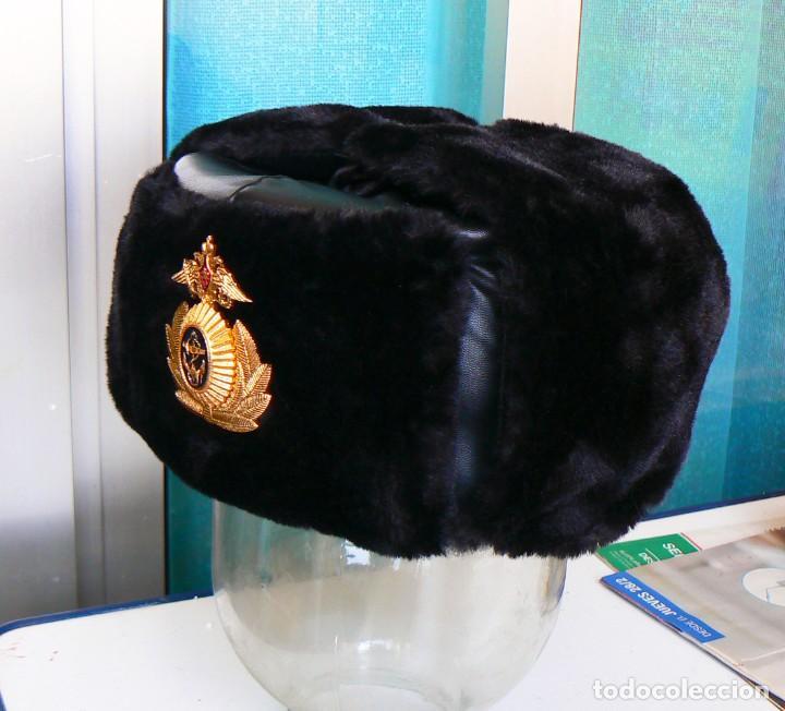 Militaria: gorra de invierno oficial de la flota norte de Rusia. - Foto 2 - 175994583