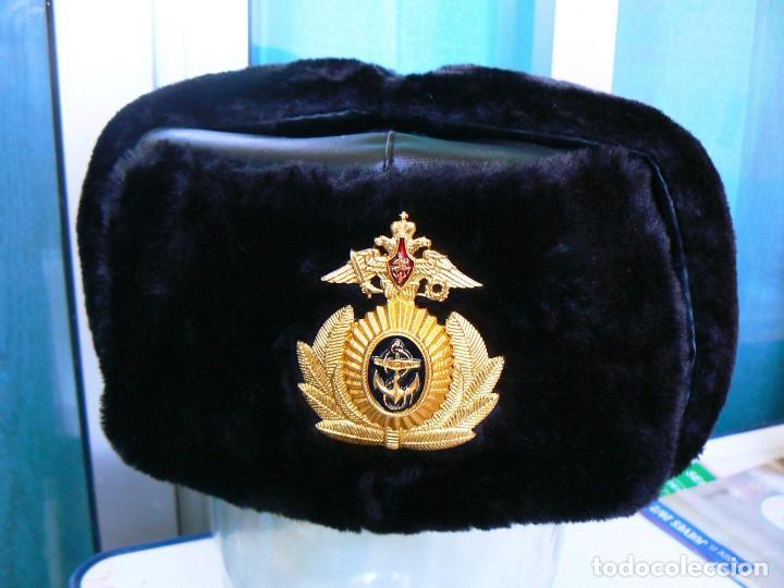 Militaria: gorra de invierno oficial de la flota norte de Rusia. - Foto 4 - 175994583