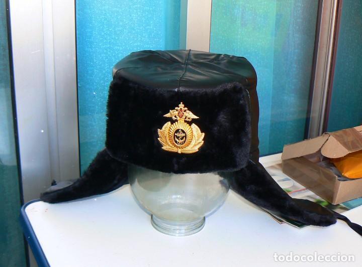 Militaria: gorra de invierno oficial de la flota norte de Rusia. - Foto 8 - 175994583