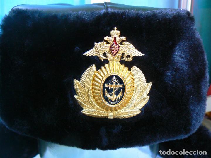 Militaria: gorra de invierno oficial de la flota norte de Rusia. - Foto 9 - 175994583