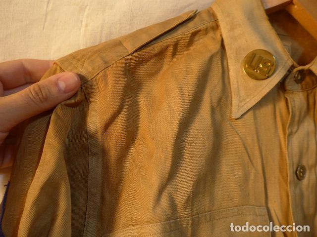 Militaria: Antigua camisa americana de oficial, original, con sus parches. Estados Unidos. II guerra o vietnam? - Foto 3 - 160731762